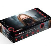 Χειρουργικές Μάσκες 3 Φύλλων Ατομικής Προστασίας 20τμχ Μαύρο Χρώμα